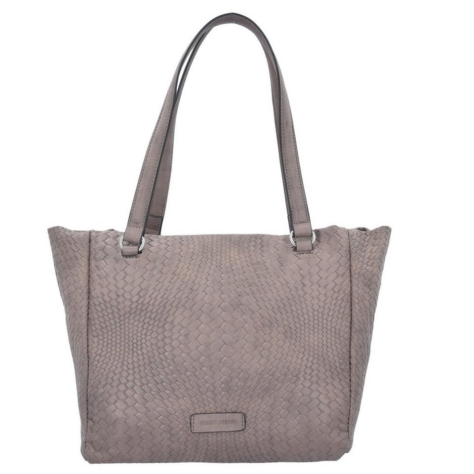 Gerry Weber Wanted Schultertasche Leder 29 cm in taupe