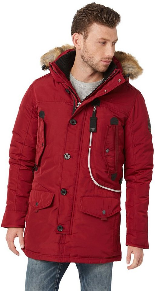 TOM TAILOR Jacke »snow coat with hood« in ivy red
