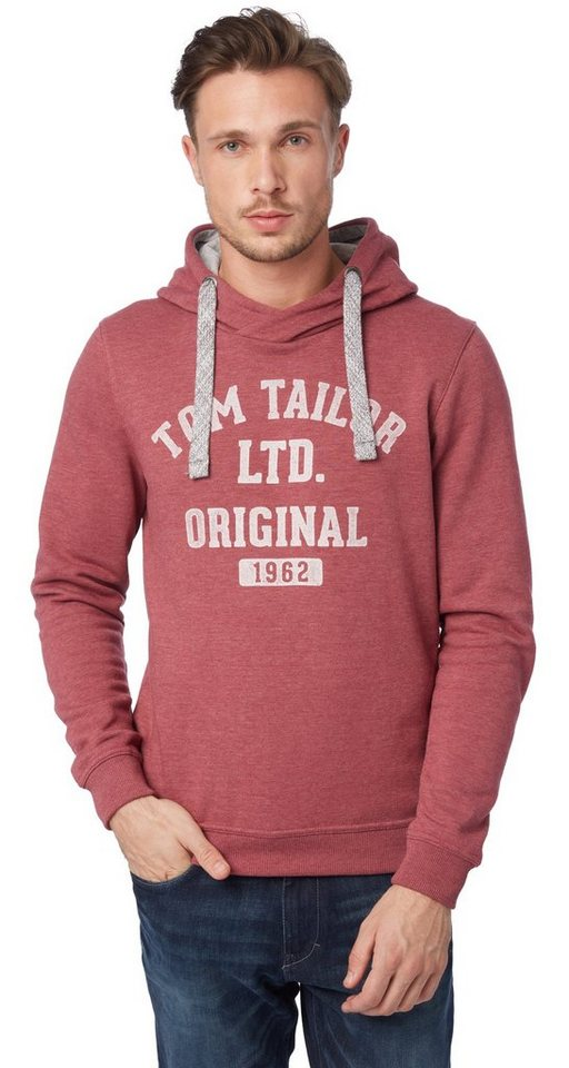 TOM TAILOR Sweatshirt »logo hoodie« in summer purple