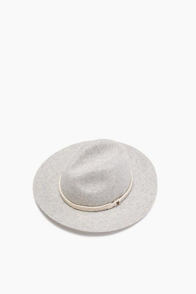 ESPRIT CASUAL Filzhut mit Kordeln, 100% Wolle in LIGHT GREY