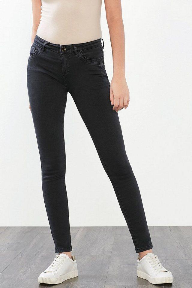 ESPRIT CASUAL Softe Skinny-Jeans mit neuen Taschen in ANTHRACITE
