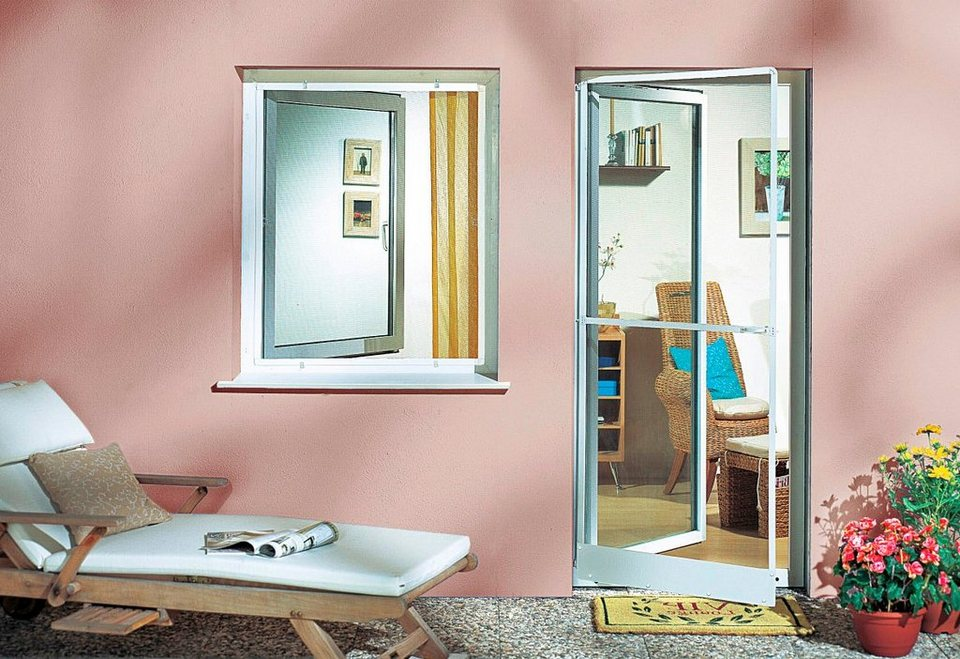 komplett set insektenschutz fenster standard braun bxh 80x100 cm online kaufen otto. Black Bedroom Furniture Sets. Home Design Ideas