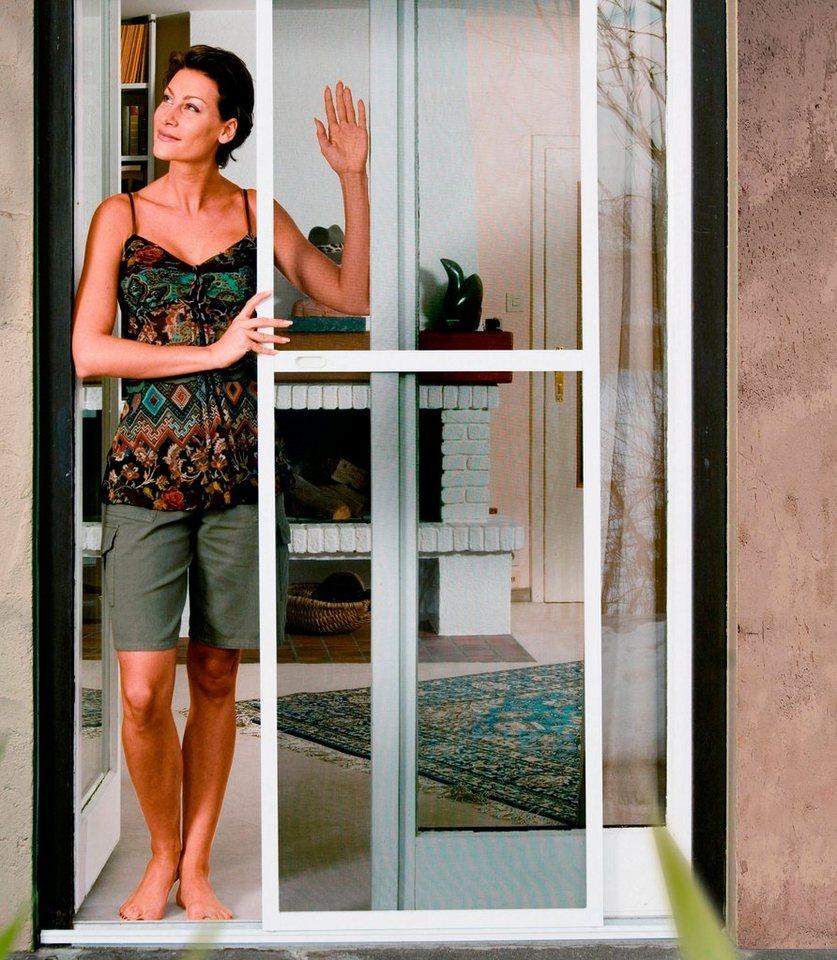 komplett set insektenschutz schiebet r braun bxh 120x240 cm online kaufen otto. Black Bedroom Furniture Sets. Home Design Ideas