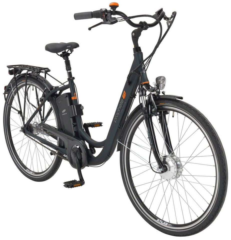 prophete e bike city damen navigator 7 5 26 28 zoll 7 gang frontmotor 375 wh online kaufen. Black Bedroom Furniture Sets. Home Design Ideas