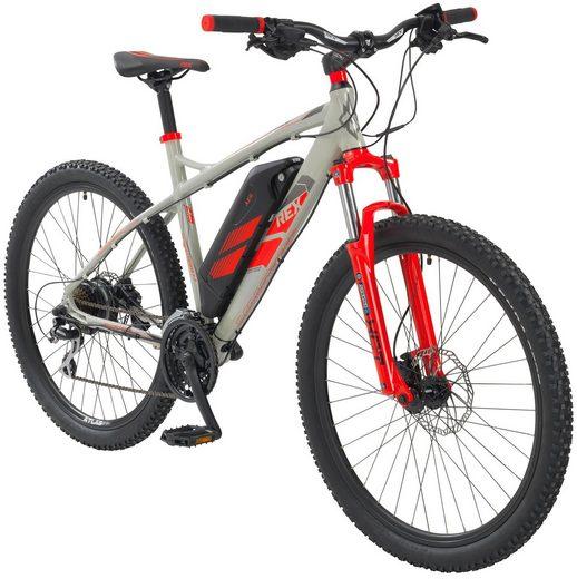 rex e bike mountainbike bergsteiger 7 7 27 5 zoll 24 gang heckmotor 374 wh online kaufen. Black Bedroom Furniture Sets. Home Design Ideas