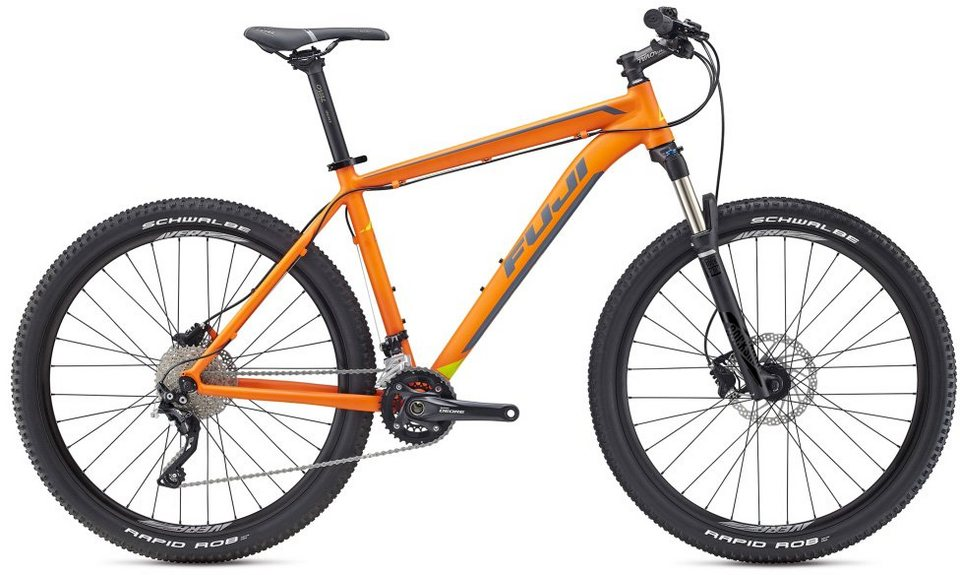 Fuji Herren MTB, 27,5 Zoll, 20 Gang Shimano Deore XT shadow, »Tahoe 1.5« in orange-dunkelgrau