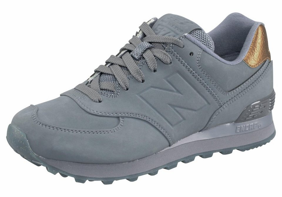 New Balance »WL574« Sneaker in grau-goldfarben
