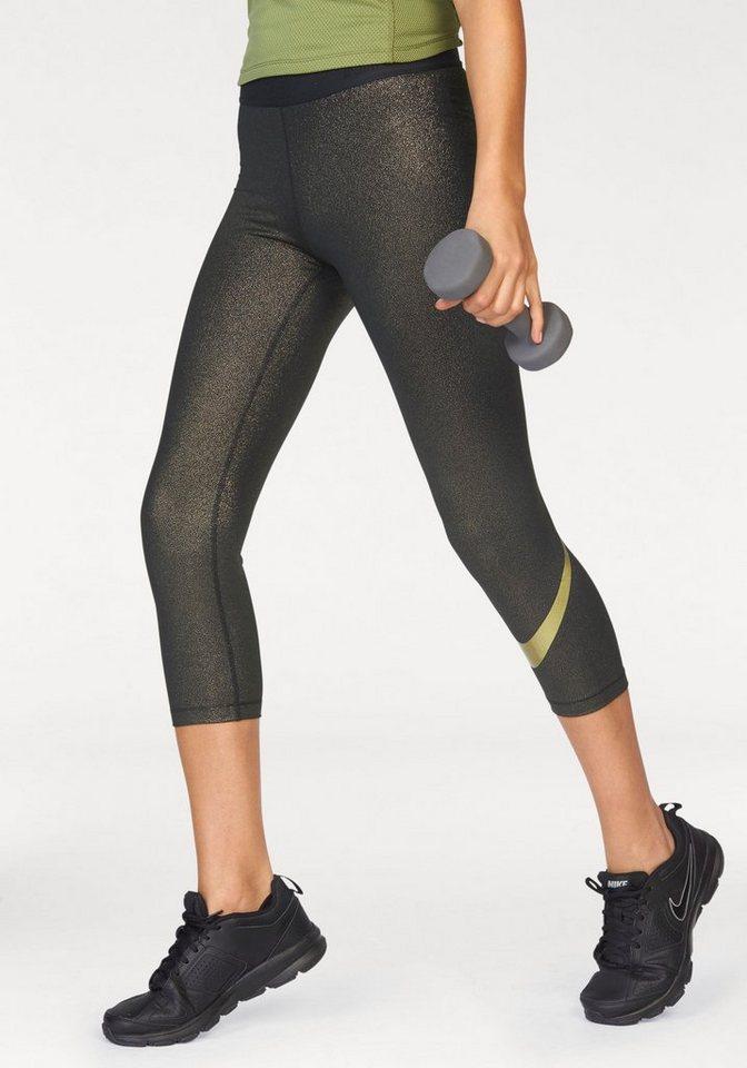 Nike Funktionstights »NIKE PRO CAPRI GOLD« in goldfarben
