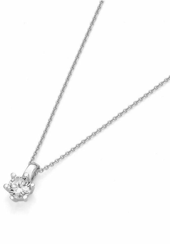 Firetti Silberkette »Solitär« mit Zirkonia in Silber 925