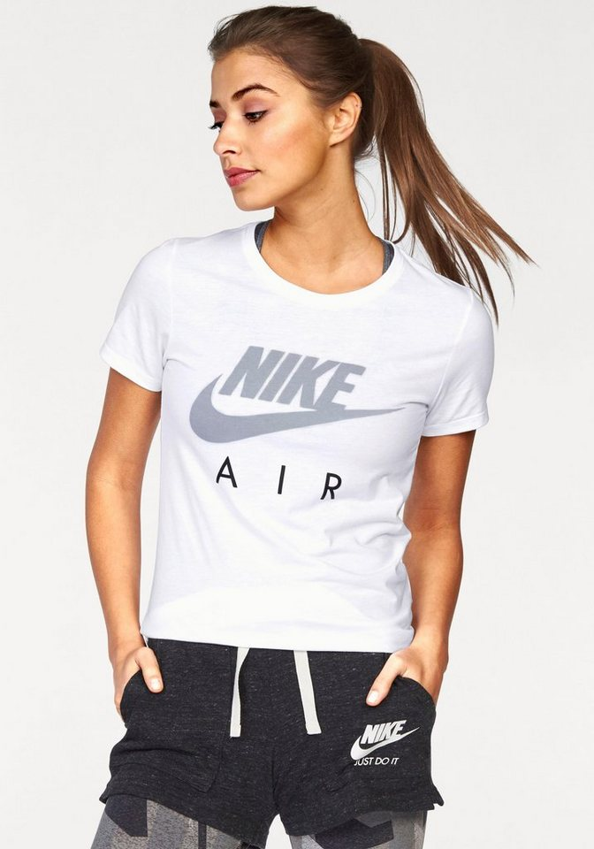 Nike Rundhalsshirt »NIKE TEE-AIR CREW« in weiß-grau