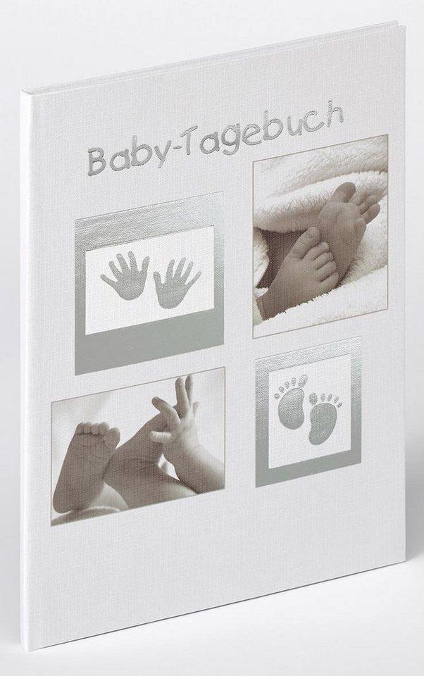 Home affaire Baby-Tagebuch »Little Foot« in grau