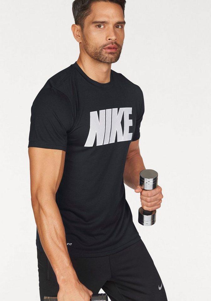 Nike Funktionsshirt »LEGENDMESH NIKE BLOCK TEE« in schwarz-weiß