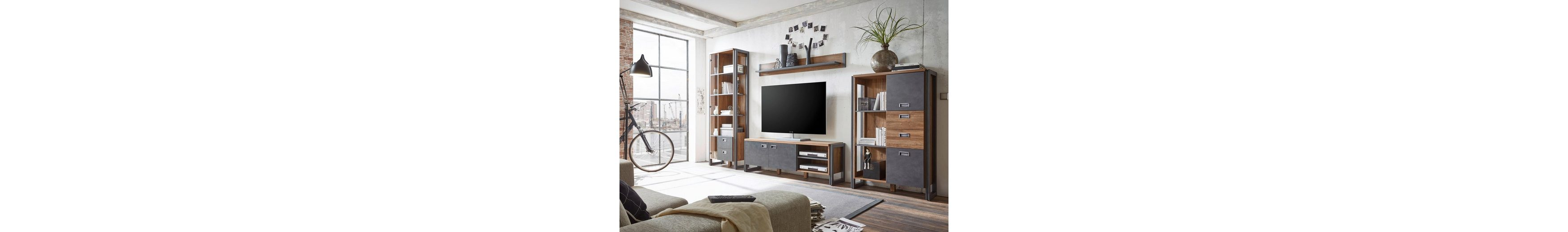 Home affaire Wohnwand (4tlg.) »Detroit4« im angesagten Industrial Look