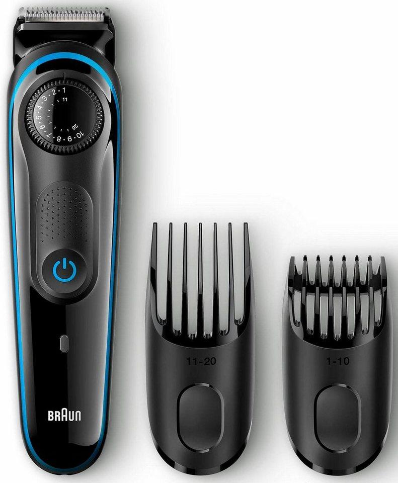 Braun Bartschneider BT3040, Ultimative Präzision für eine 100%ige Kontrolle Ihres Styles in schwarz/blau