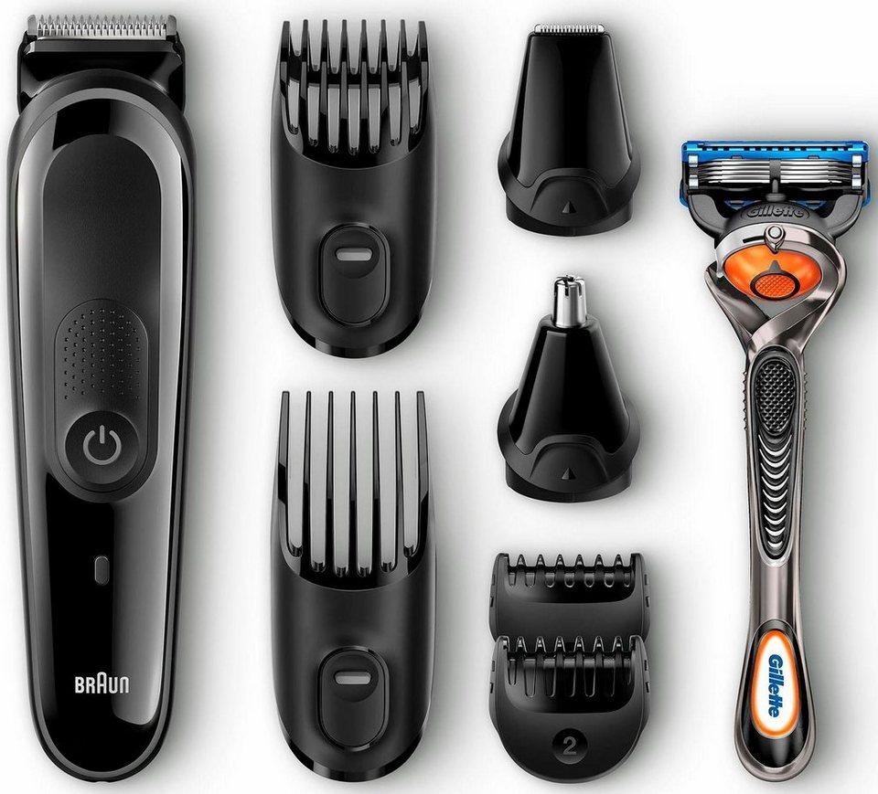 Braun Multigrooming-Set MGK3060, 8-In-1 Präzisions-Bart- und Haartrimmerset in schwarz