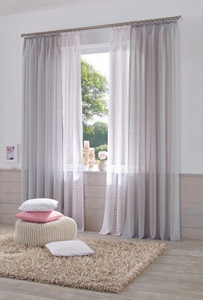 gardine hannah uni home affaire kr uselband 2 st ck online kaufen otto. Black Bedroom Furniture Sets. Home Design Ideas