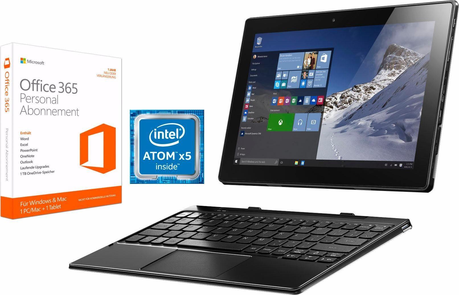 Lenovo Ideapad MIIX 310-10ICR Tablet-PC, Microsoft® Windows® 10 Home, Intel Atom