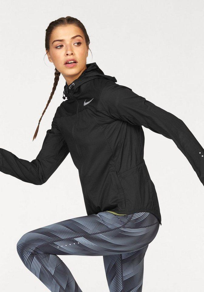 Nike Laufjacke »WOMEN NIKE IMP LT JACKET HD« in schwarz