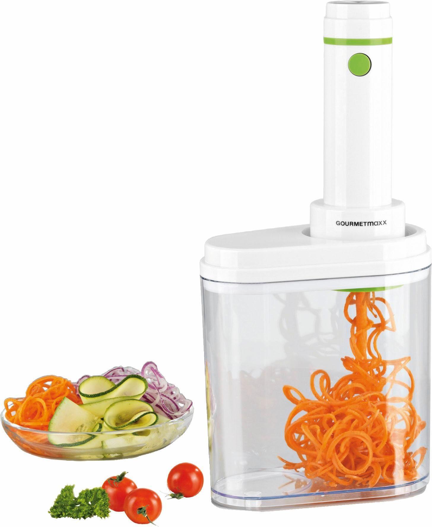 Gourmet Maxx Spiralschneider, 100 Watt, weiß/limegreen