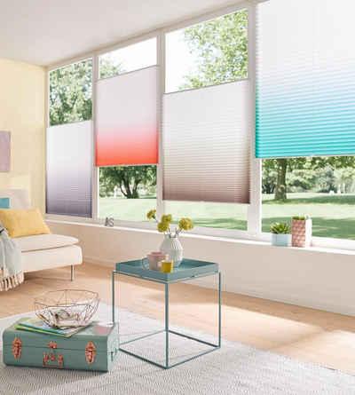 Plissee »Ombré«, my home, Lichtschutz, ohne Bohren, verspannt, Farbverlauf