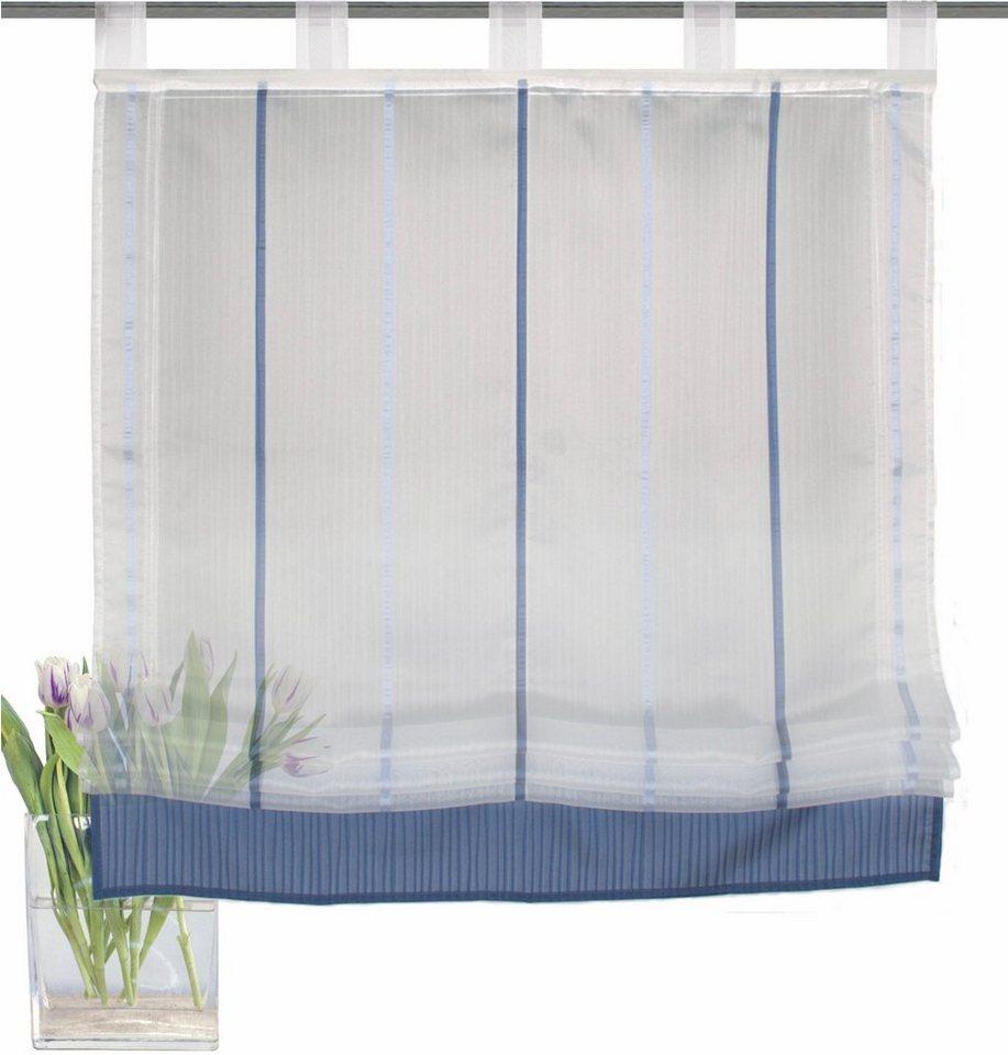 raffrollo blau mit schlaufen icnib. Black Bedroom Furniture Sets. Home Design Ideas