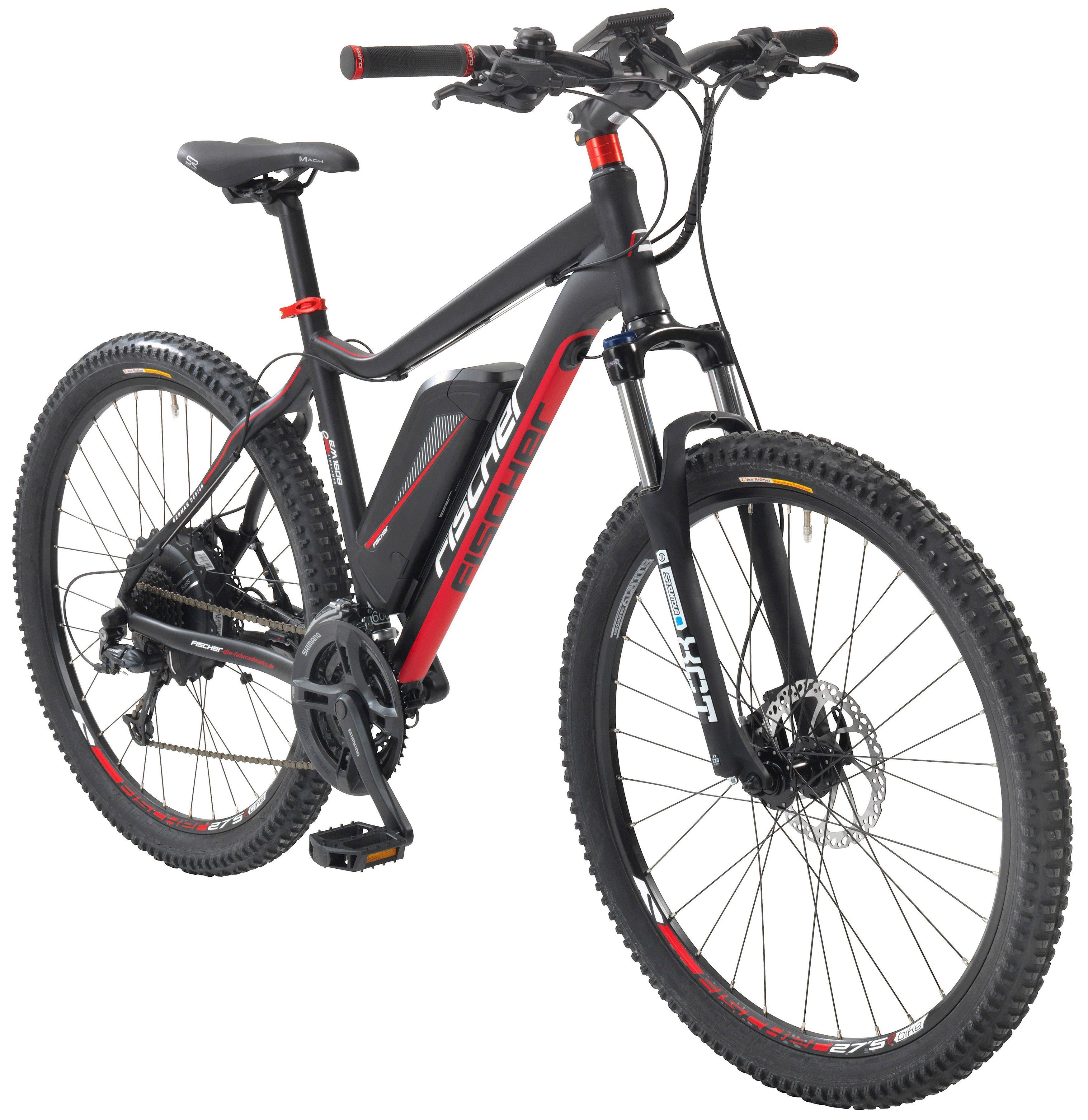 FISCHER FAHRRAEDER E-Bike Mountainbike »EM 1608«, 27,5 Zoll, 24 Gang, Heckmotor, 418 Wh