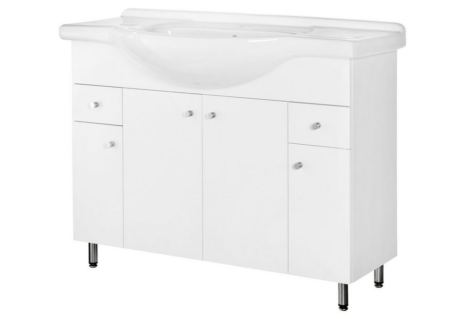 Set: Waschtisch »Posen«, Breite 106 cm, (2-tlg.) in weiß