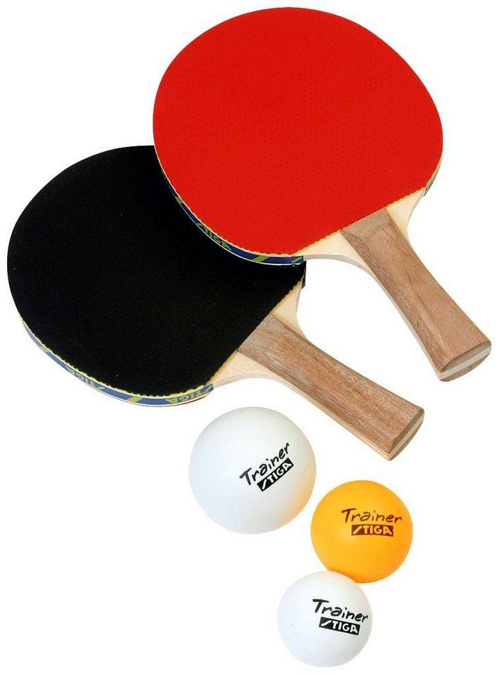 Tischtennisschläger »Stinger«, 2 Stk. in schwarz