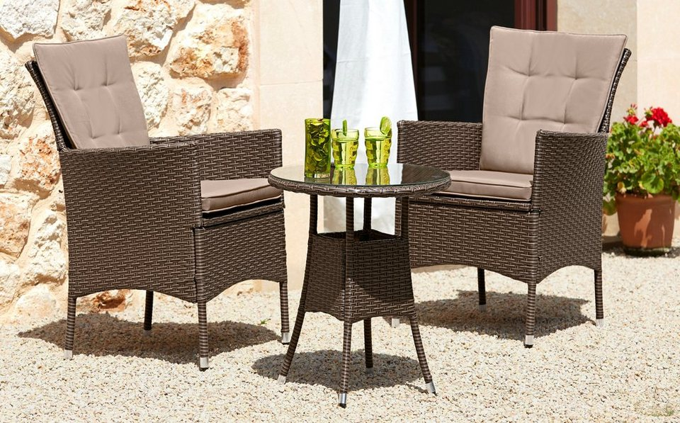gartenm belset santiago new 2 sessel tisch 50 cm polyrattan online kaufen otto. Black Bedroom Furniture Sets. Home Design Ideas