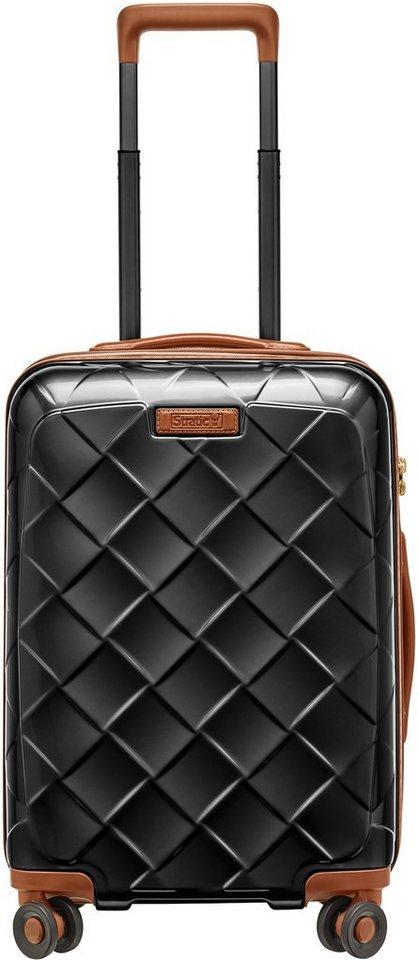 stratic hartschalen trolley leather more 4 rollen. Black Bedroom Furniture Sets. Home Design Ideas