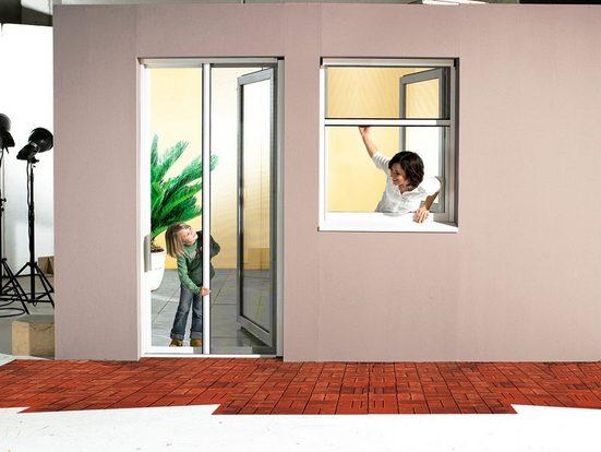 Schellenberg Komplett-Set: Insektenschutz-Rollo »Premium«, für Türen, BxH: 160x225 cm, weiß