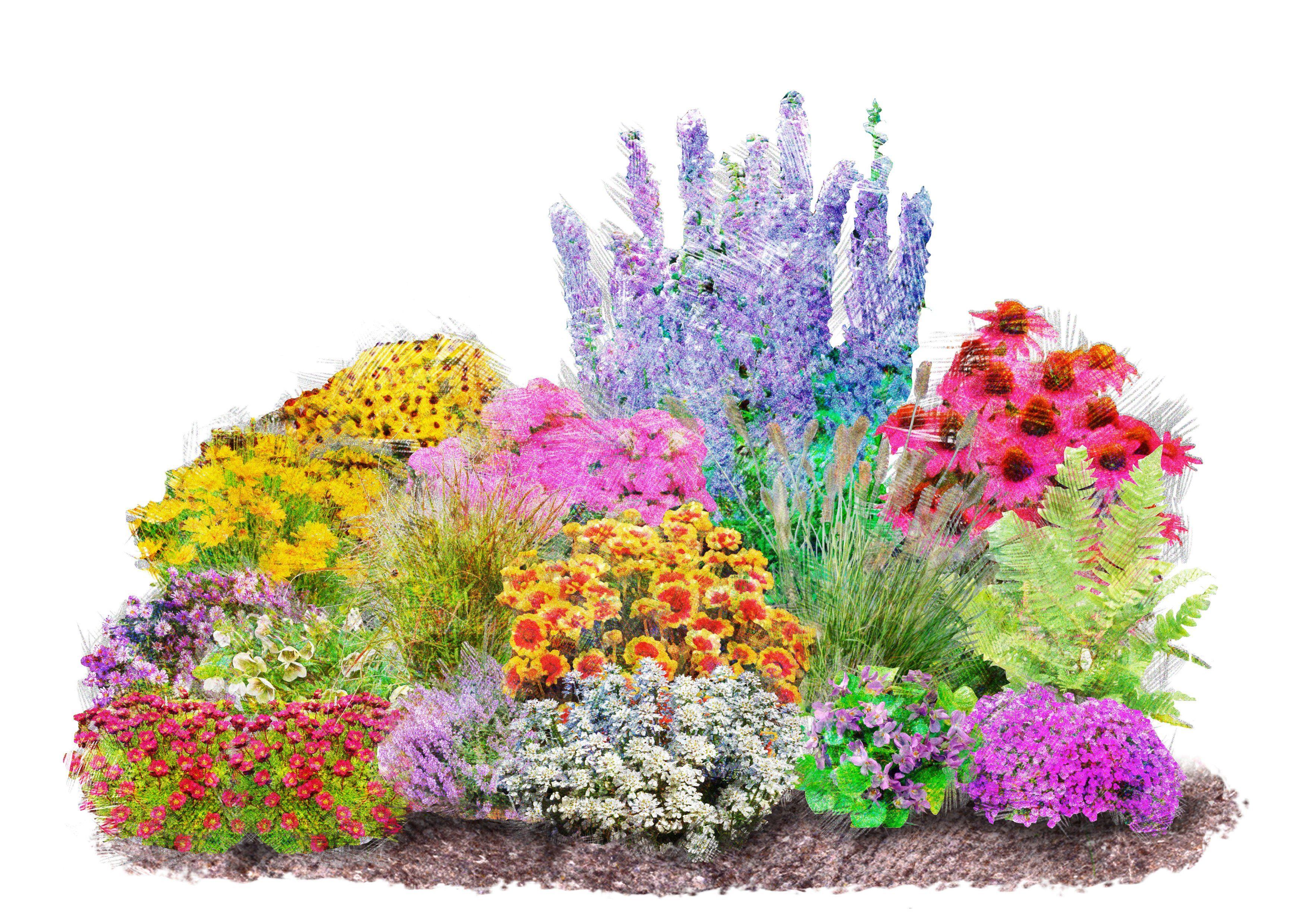 Set: Beet & Balkonpflanze »4-Jahreszeiten« (16-tlg.)