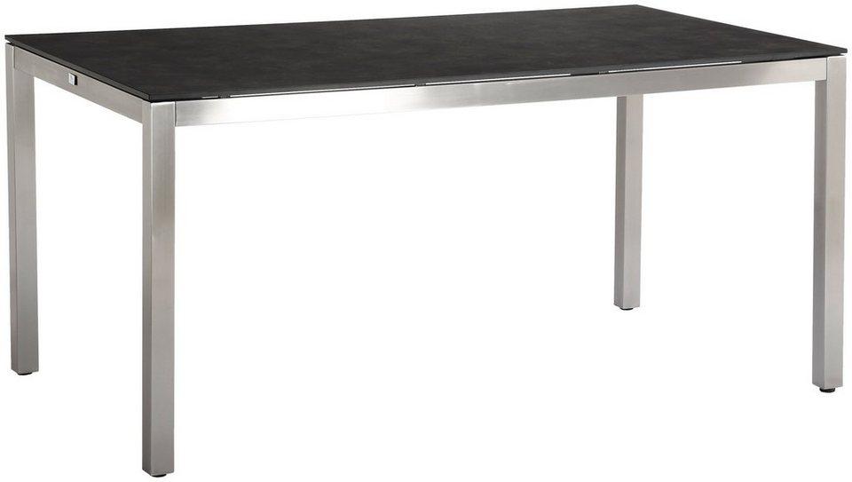 best gartentisch marbella edelstahl hpl schwarz online. Black Bedroom Furniture Sets. Home Design Ideas