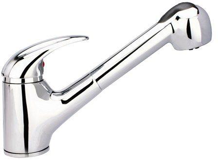 Spülenarmatur »Albatros« mit Schlauchbrause, Niederdruck in chromfarben