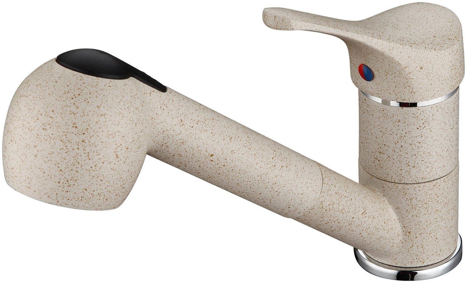 SCHÜTTE Spülenarmatur »Granit, mit Schlauchbrause, sandfarben, Hochdruck« - broschei