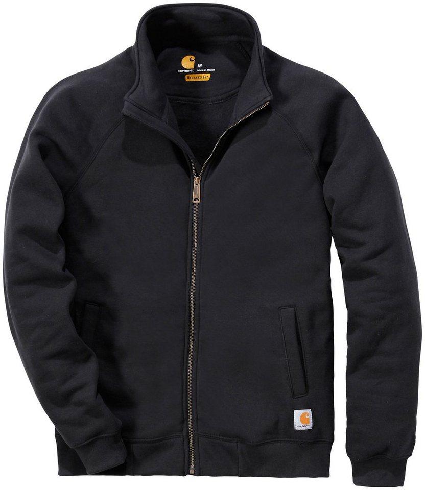 Sweatshirt »K350 Midweight Mock Neck Zip Front Sweatshirt« in schwarz
