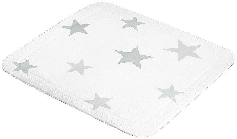 Duscheinlage »Stars« in weiß/grau