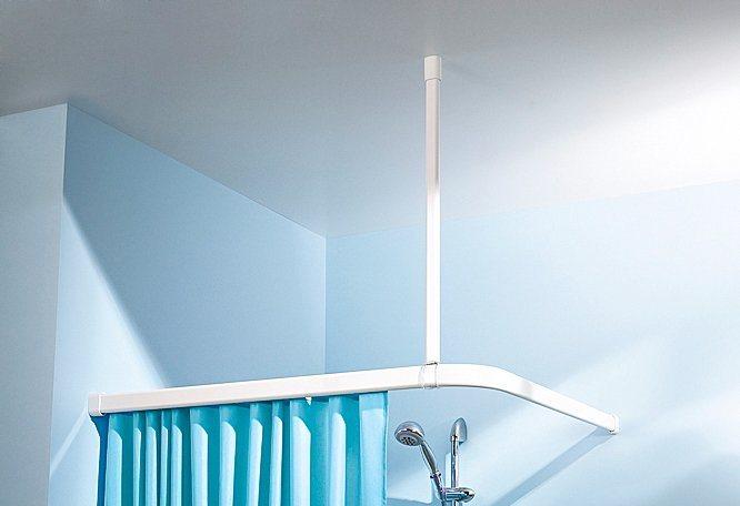 Deckenhalterung für Duschvorhangstangen in weiß