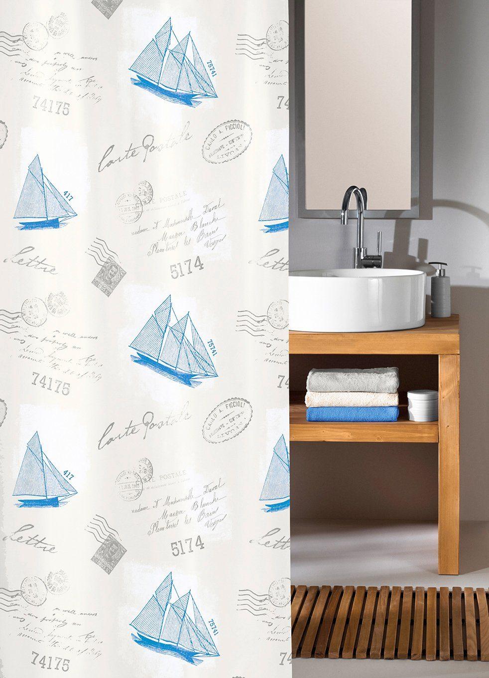 KLEINE WOLKE Duschvorhang »Sail Away«, Breite 180 cm