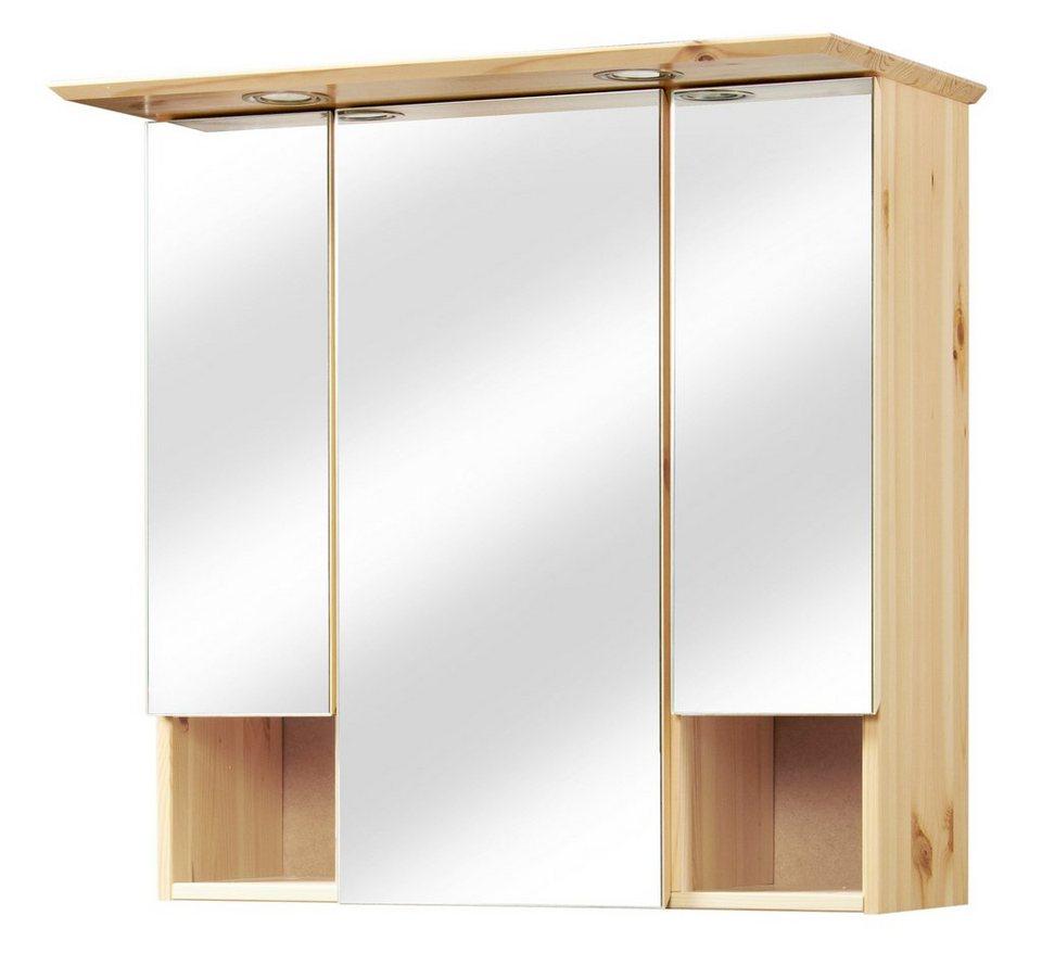 Spiegelschrank »Rügen« Breite 63 cm, mit Beleuchtung in kieferfarben