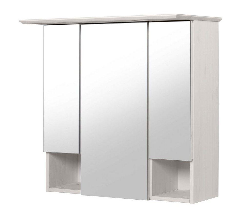 Spiegelschrank »Venezia Landhaus/Sund« Breite 63 cm, mit Beleuchtung in weiß