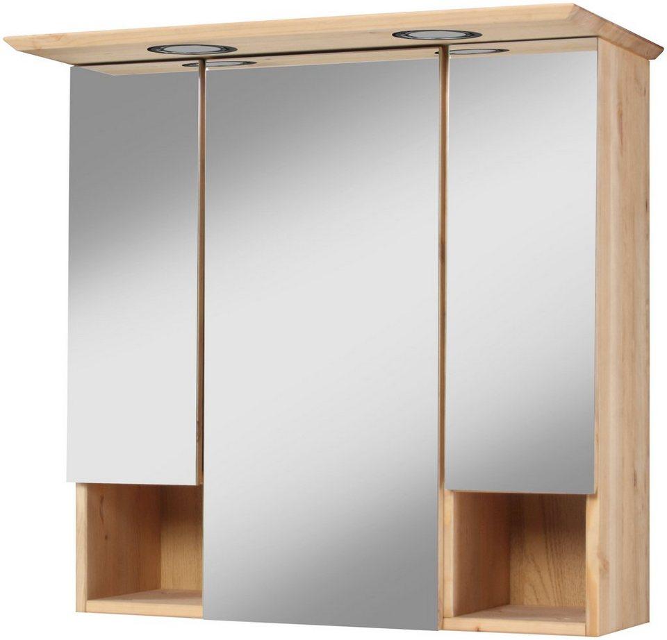 Spiegelschrank mit beleuchtung landhaus for Spiegelschrank landhausstil