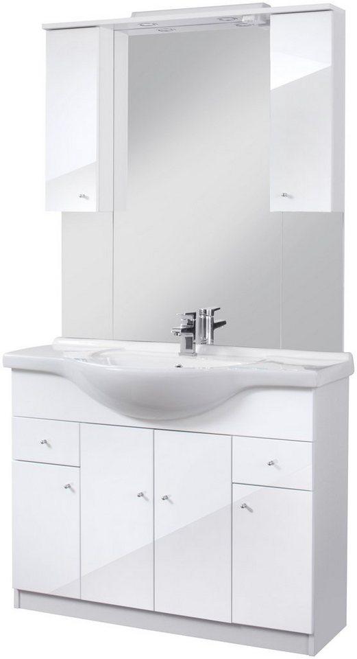 Badmöbel-Set »San Diego«, Breite 105 cm, 4-tlg in weiß