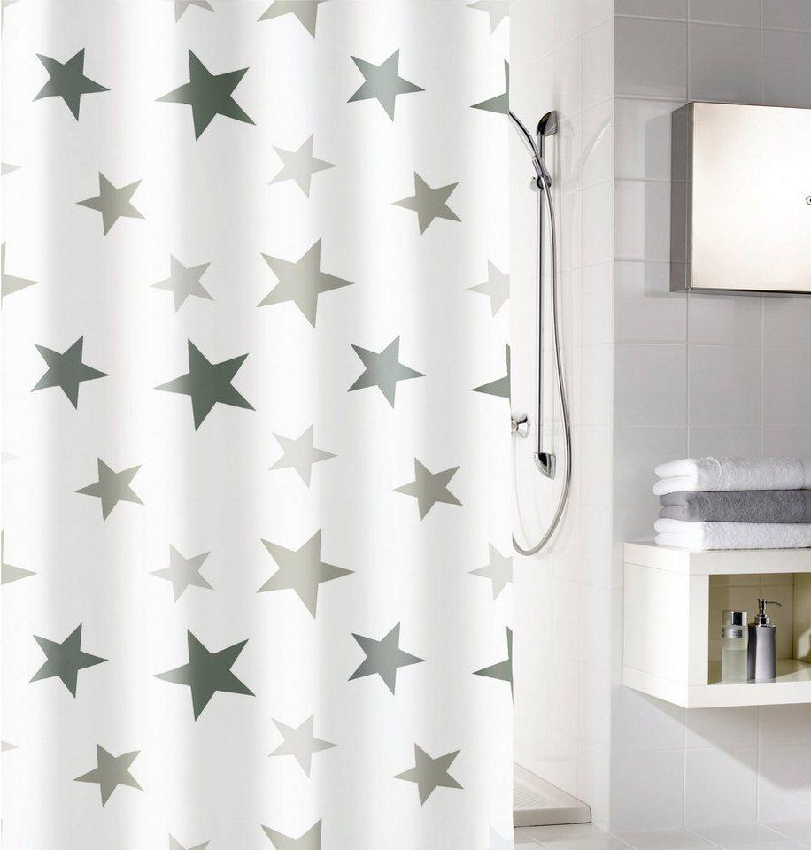 Duschvorhang »Stars« in weiß