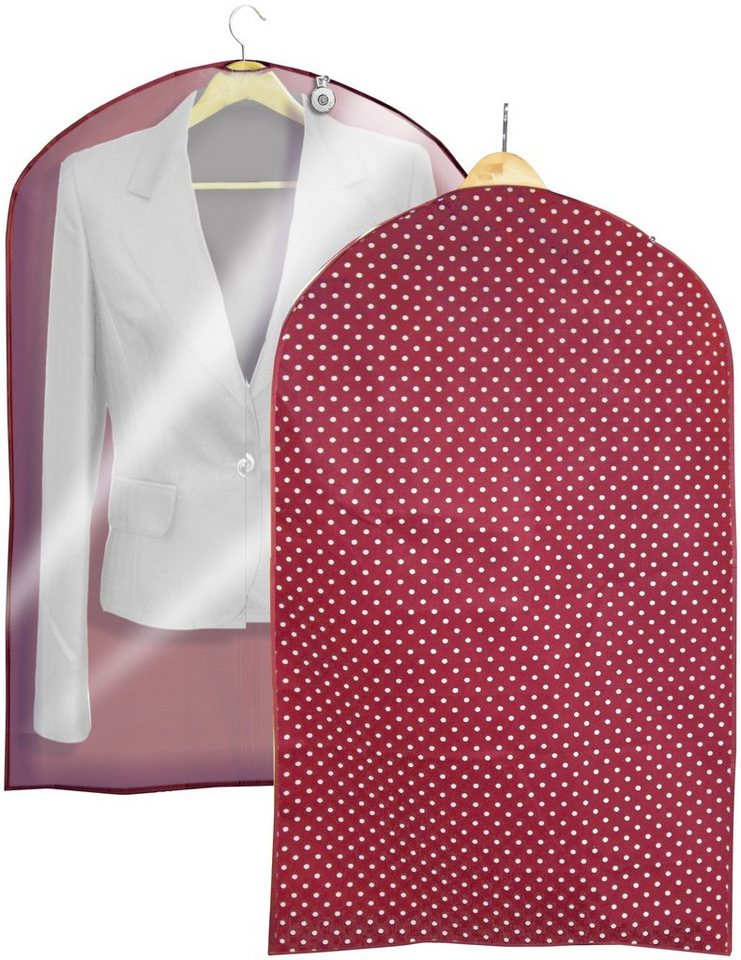 Kleidersack »Vino«, Größe M, 2er-Set in bordeaux