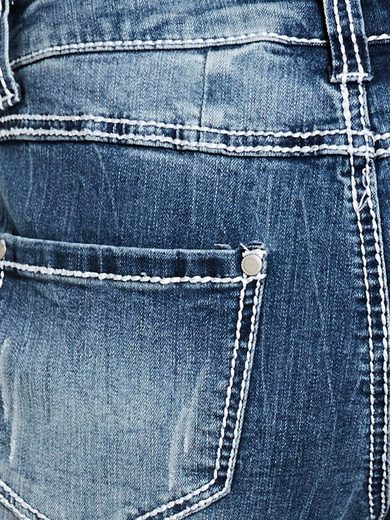B.C. BEST CONNECTIONS by Heine Boyfriend-Jeans mit Crinkle-Optik