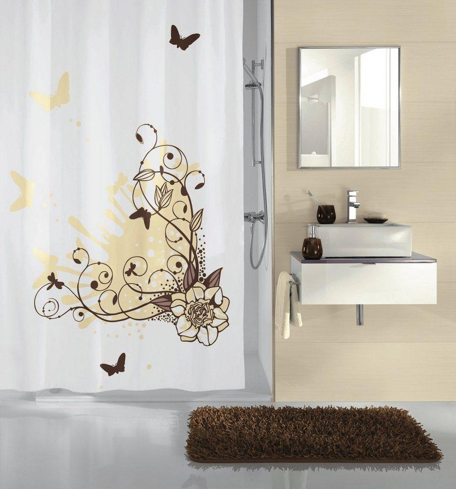 Duschvorhang »Brown Flower« in braun