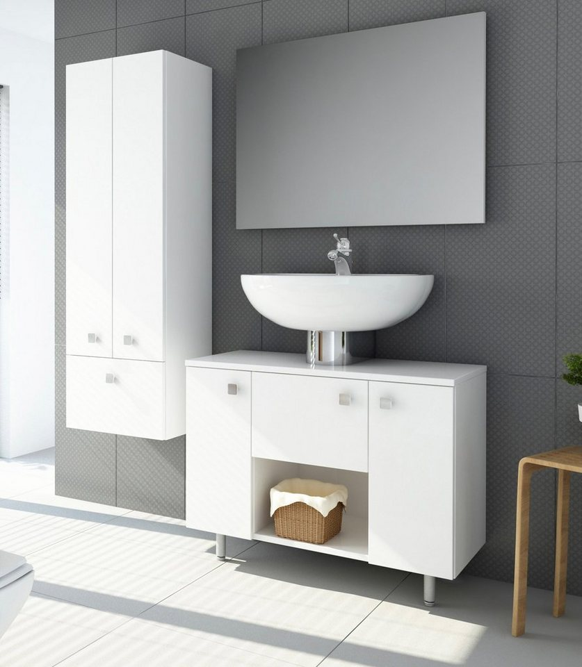 Waschbeckenunterschrank »Sines« in weiß