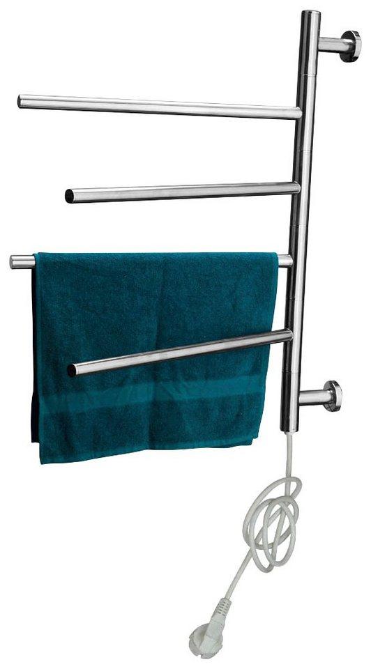 Beheizbarer Handtuchhalter »Texas« in silberfarben