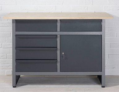 metallwerkbank 5 schubladen grau online kaufen otto. Black Bedroom Furniture Sets. Home Design Ideas